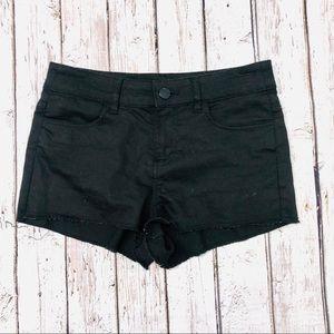 H&M | black cut off shorts 4